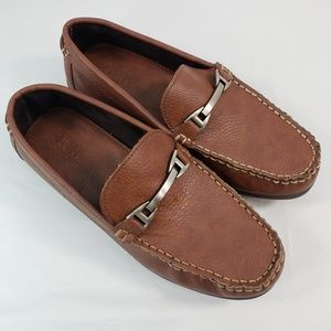SIMPLE STYLES NEW BROWN LEATHER SHOES SIZE 8